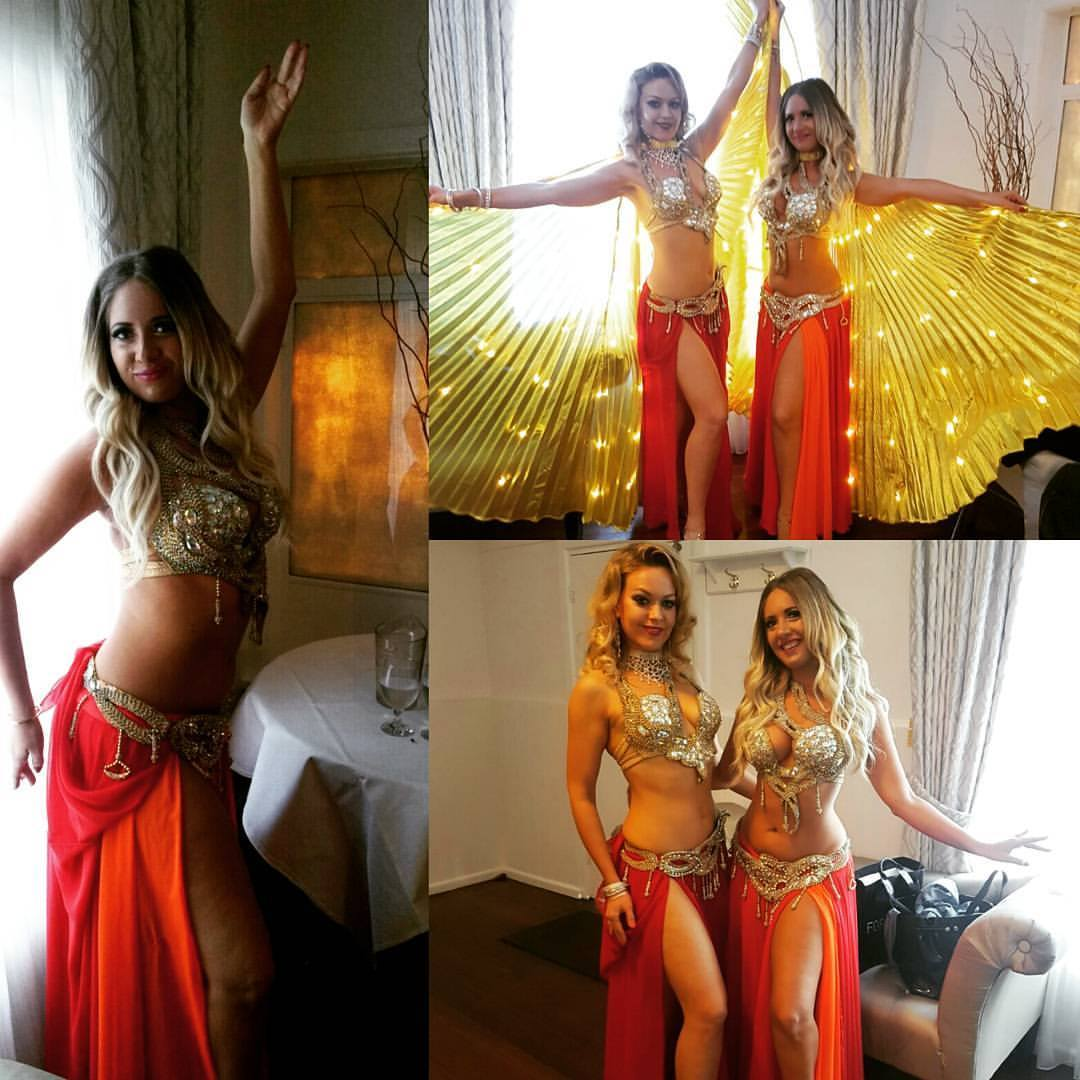 Stunning Bellydancers joined by talented drummers and Swordsmen Dabke dancers! Hire a Belly dancer now.