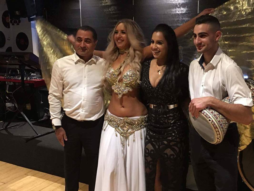 Zaffe group with Kristina and gold wings